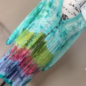 India boutique cover up  multi color free size